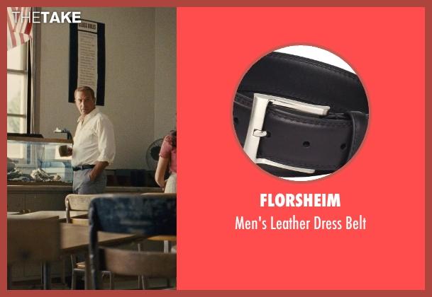 Florsheim black belt from McFarland, USA seen with Kevin Costner (Jim White)