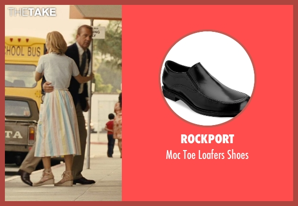 Rockport black shoes from McFarland, USA seen with Kevin Costner (Jim White)