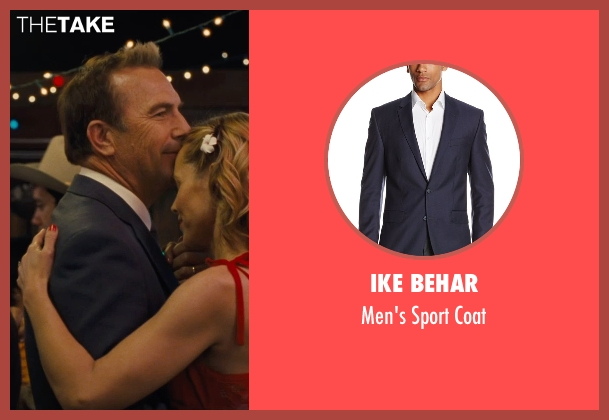 Ike Behar blue coat from McFarland, USA seen with Kevin Costner (Jim White)