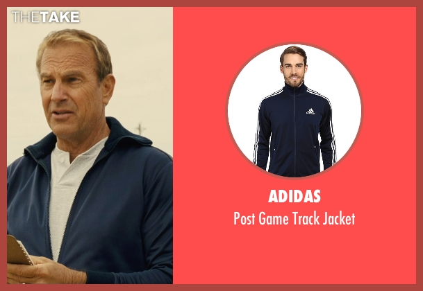 Adidas blue jacket from McFarland, USA seen with Kevin Costner (Jim White)