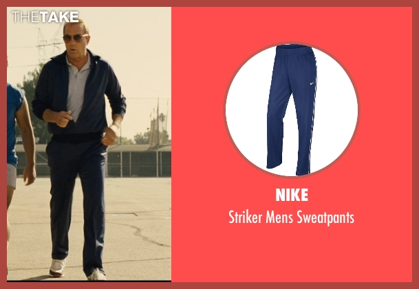 Nike blue sweatpants from McFarland, USA seen with Kevin Costner (Jim White)