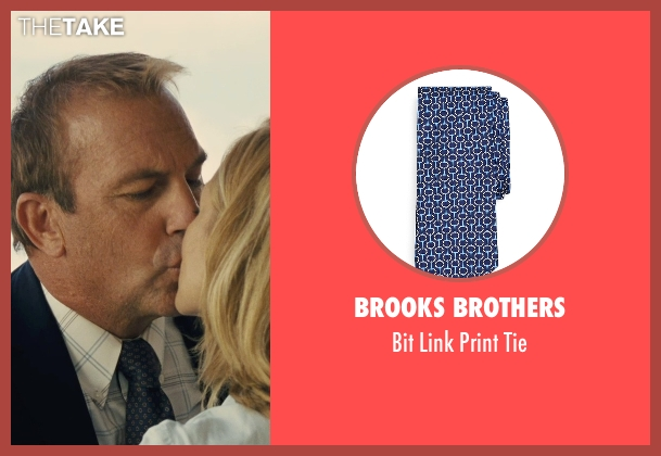 Brooks Brothers blue tie from McFarland, USA seen with Kevin Costner (Jim White)