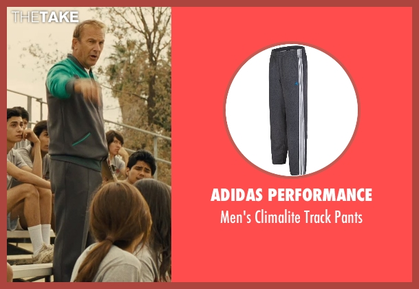 Adidas Performance gray pants from McFarland, USA seen with Kevin Costner (Jim White)