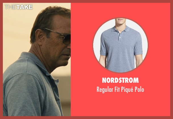 Nordstrom gray polo from McFarland, USA seen with Kevin Costner (Jim White)