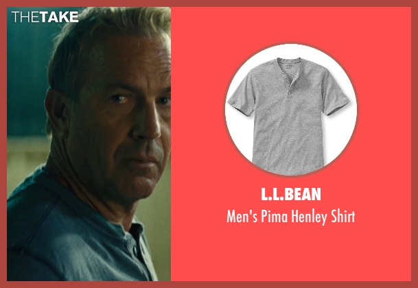 L.L.Bean gray shirt from McFarland, USA seen with Kevin Costner (Jim White)