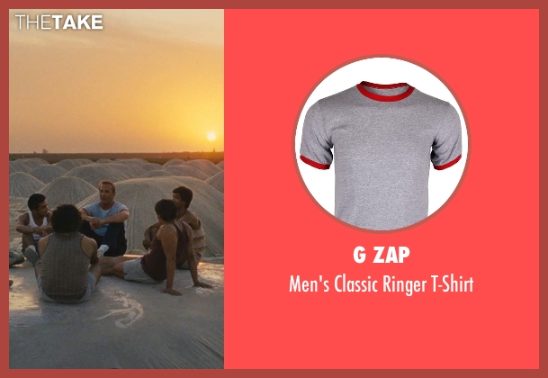 G Zap gray t-shirt from McFarland, USA seen with Kevin Costner (Jim White)