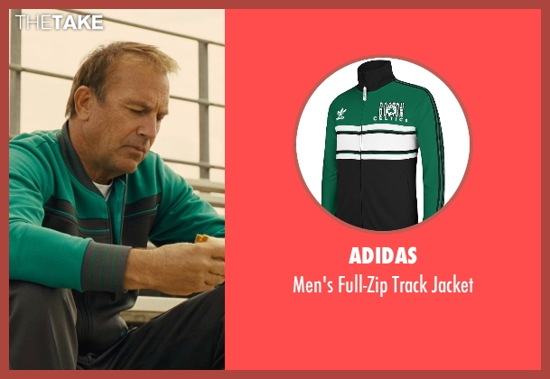 Adidas green jacket from McFarland, USA seen with Kevin Costner (Jim White)