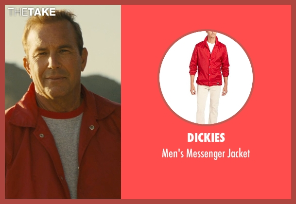 Dickies red jacket from McFarland, USA seen with Kevin Costner (Jim White)