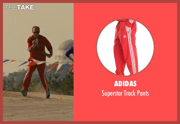 Adidas red pants from McFarland, USA seen with Kevin Costner (Jim White)