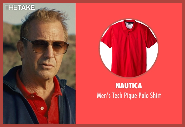 Nautica red shirt from McFarland, USA seen with Kevin Costner (Jim White)