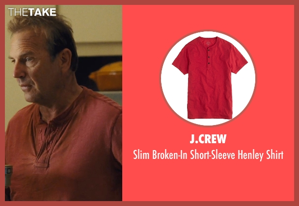 J.Crew red shirt from McFarland, USA seen with Kevin Costner (Jim White)