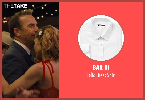 Bar III white shirt from McFarland, USA seen with Kevin Costner (Jim White)