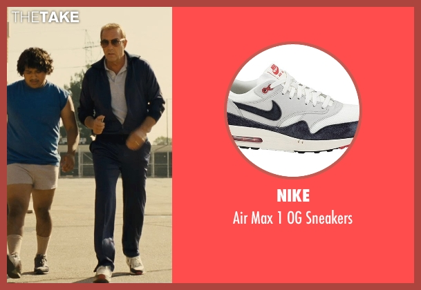 Nike white sneakers from McFarland, USA seen with Kevin Costner (Jim White)