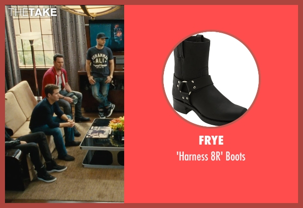 Frye black boots from Entourage seen with Kevin Dillon (Johnny Chase)