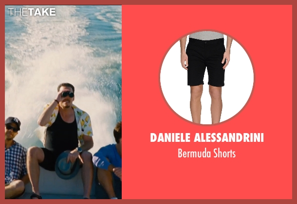 Daniele Alessandrini black shorts from Entourage seen with Kevin Dillon (Johnny Chase)