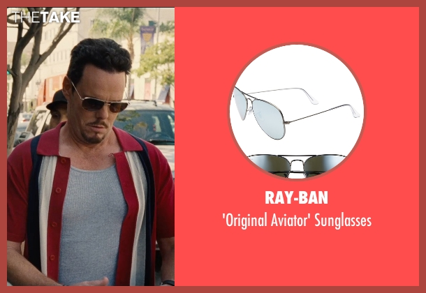 Ray-Ban black sunglasses from Entourage seen with Kevin Dillon (Johnny Chase)