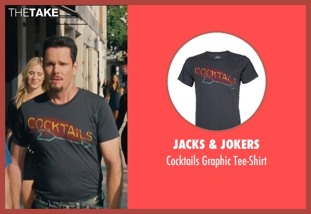 Jacks & Jokers black tee-shirt from Entourage seen with Kevin Dillon (Johnny Chase)