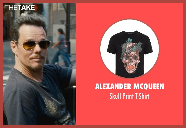 Alexander Mcqueen black t-shirt from Entourage seen with Kevin Dillon (Johnny Chase)