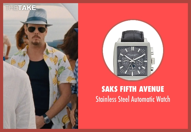 Saks Fifth Avenue black watch from Entourage seen with Kevin Dillon (Johnny Chase)