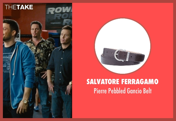 Salvatore Ferragamo brown belt from Entourage seen with Kevin Dillon (Johnny Chase)