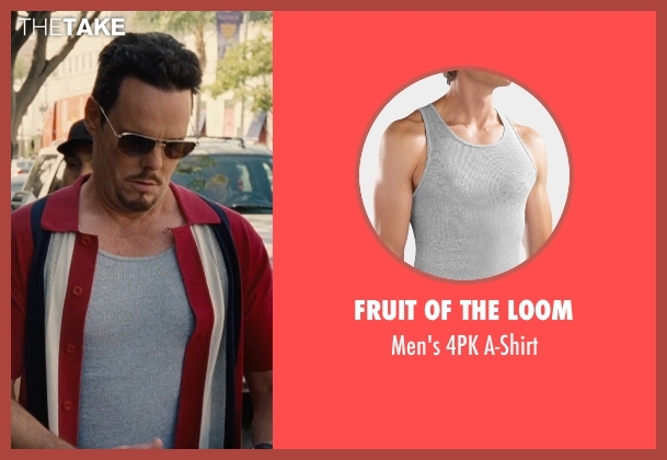 Fruit of the Loom gray a-shirt from Entourage seen with Kevin Dillon (Johnny Chase)