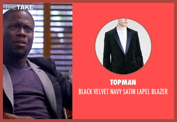 TOPMAN black blazer from About Last Night seen with Kevin Hart (Bernie)