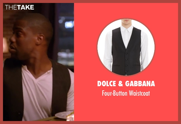 DOLCE & GABBANA black waistcoat from About Last Night seen with Kevin Hart (Bernie)