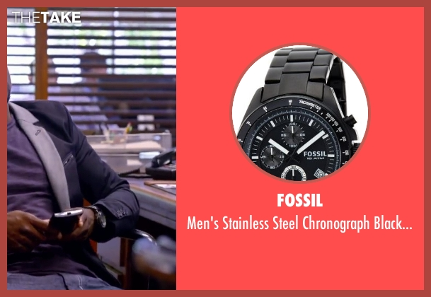Fossil black watch from About Last Night seen with Kevin Hart (Bernie)