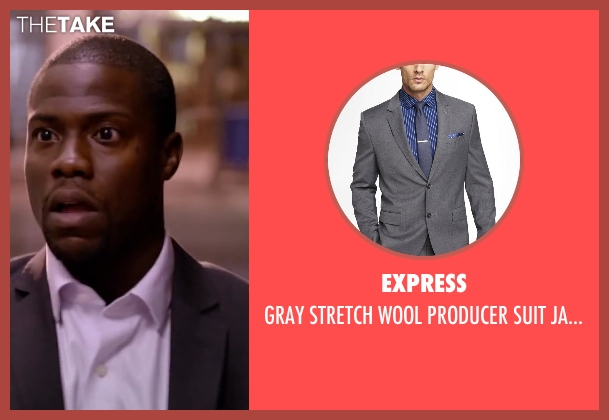 EXPRESS gray jacket from About Last Night seen with Kevin Hart (Bernie)