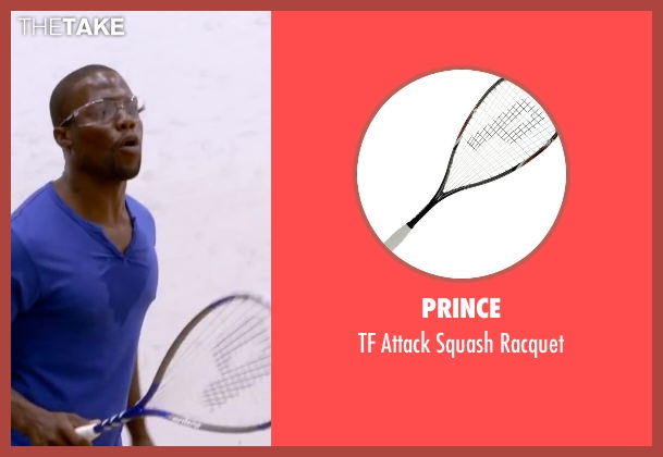 Prince racquet from About Last Night seen with Kevin Hart (Bernie)