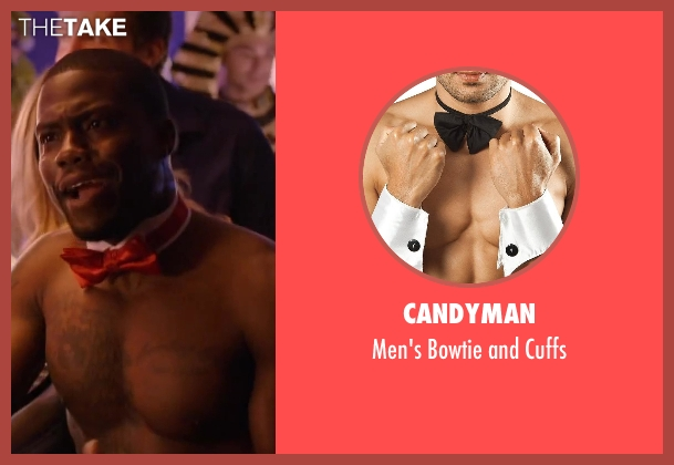 CANDYMAN red cuffs from About Last Night seen with Kevin Hart (Bernie)