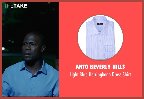 Anto Beverly Hills blue shirt from Central Intelligence seen with Kevin Hart (Calvin)