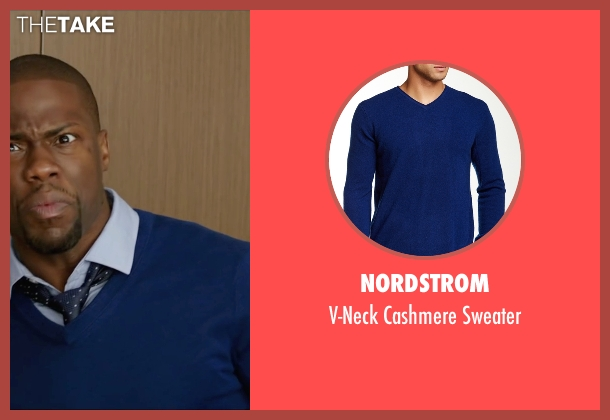 Nordstrom blue sweater from Central Intelligence seen with Kevin Hart (Calvin)
