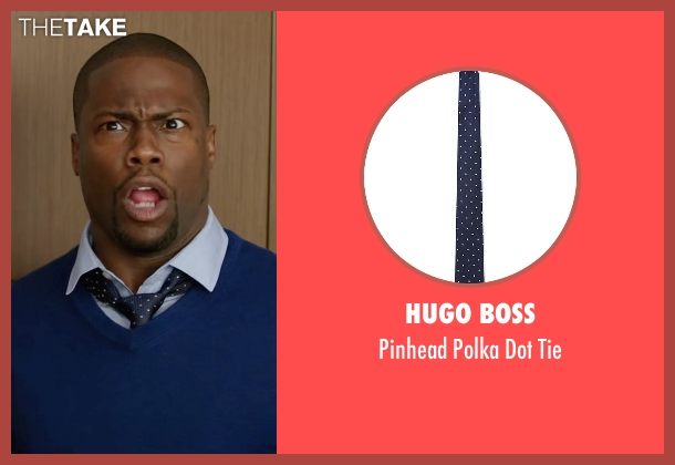 Hugo Boss blue tie from Central Intelligence seen with Kevin Hart (Calvin)