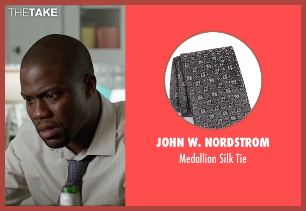 John W. Nordstrom gray tie from Central Intelligence seen with Kevin Hart (Calvin)