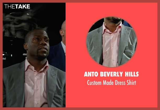 Anto Beverly Hills pink shirt from Central Intelligence seen with Kevin Hart (Calvin)