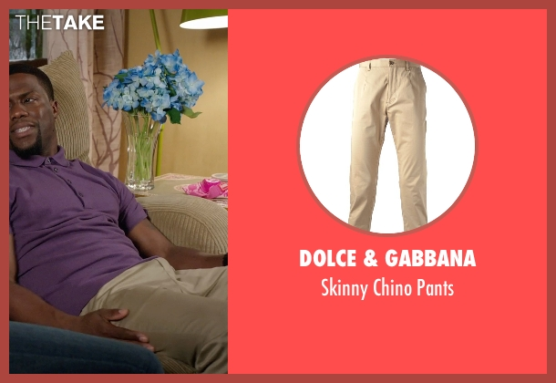 Dolce & Gabbana beige pants from Get Hard seen with Kevin Hart (Darnell Lewis)