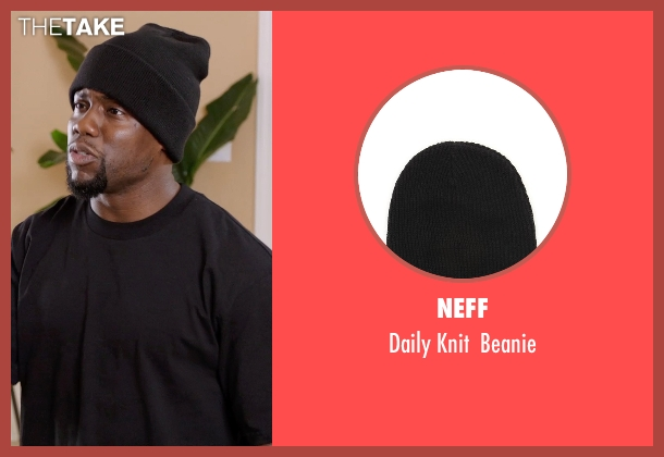 Neff black beanie from Get Hard seen with Kevin Hart (Darnell Lewis)