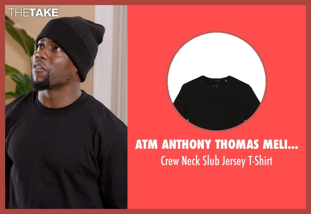 ATM Anthony Thomas Melillo black t-shirt from Get Hard seen with Kevin Hart (Darnell Lewis)