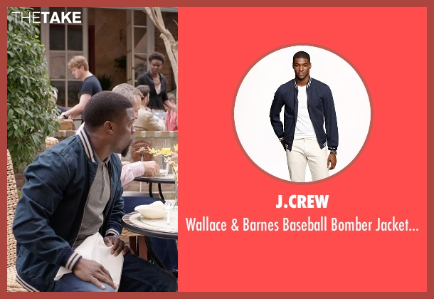 J.CREW blue cotton from Get Hard seen with Kevin Hart (Darnell Lewis)