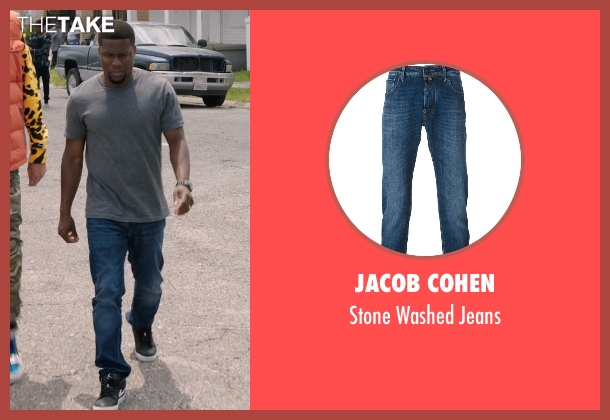 Jacob Cohen blue jeans from Get Hard seen with Kevin Hart (Darnell Lewis)