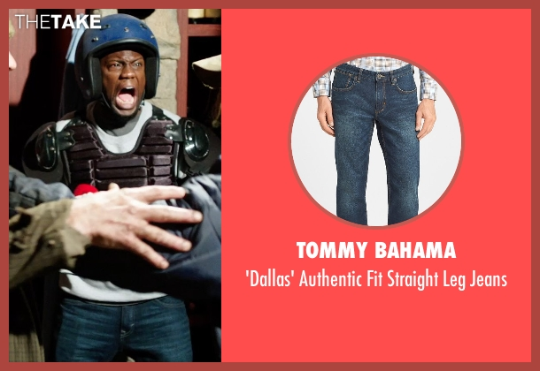 Tommy Bahama blue jeans from Get Hard seen with Kevin Hart (Darnell Lewis)