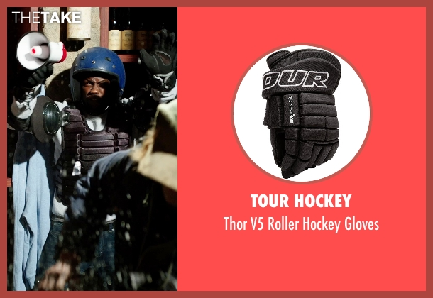 Tour Hockey gloves from Get Hard seen with Kevin Hart (Darnell Lewis)