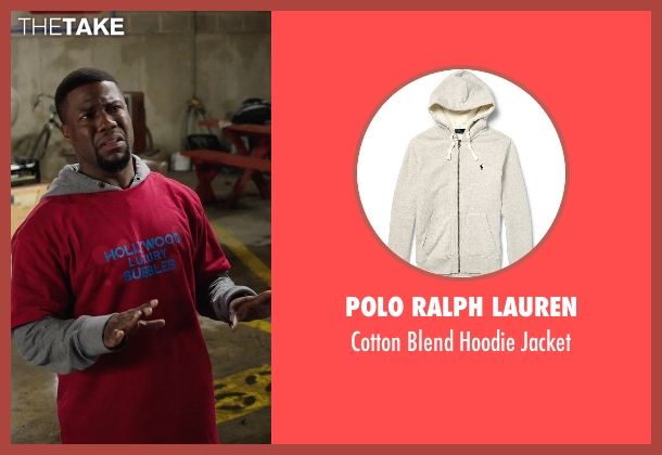 Polo Ralph Lauren gray jacket from Get Hard seen with Kevin Hart (Darnell Lewis)