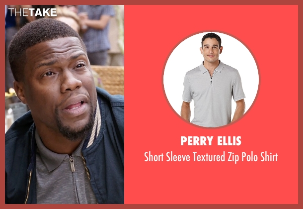Perry Ellis gray shirt from Get Hard seen with Kevin Hart (Darnell Lewis)