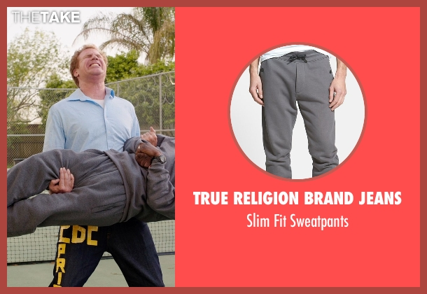 True Religion Brand Jeans gray sweatpants from Get Hard seen with Kevin Hart (Darnell Lewis)