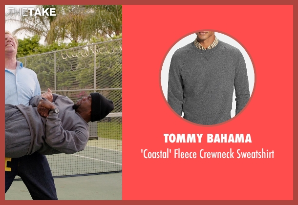 Tommy Bahama gray sweatshirt from Get Hard seen with Kevin Hart (Darnell Lewis)