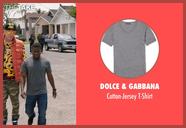 Dolce & Gabbana gray t-shirt from Get Hard seen with Kevin Hart (Darnell Lewis)