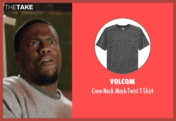 Volcom gray t-shirt from Get Hard seen with Kevin Hart (Darnell Lewis)