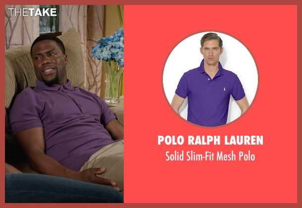 Polo Ralph Lauren purple polo from Get Hard seen with Kevin Hart (Darnell Lewis)